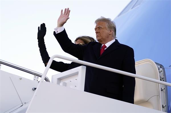 donald trump did not attend bidens swearing in ceremony in florida