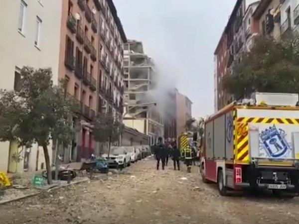 explosion in madrid of spain four people dead