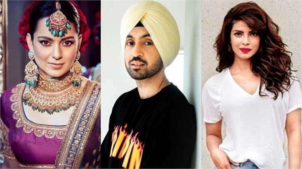 kangana ranaut slams diljit dosanjh and priyanka chopra says