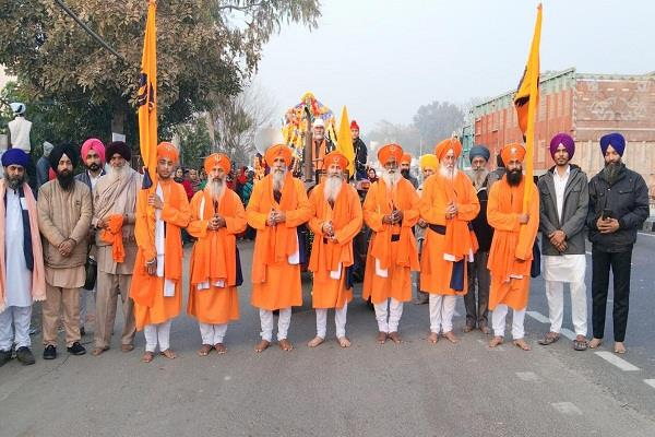 nagar kirtan decorated in the villages of khuda and rajpur