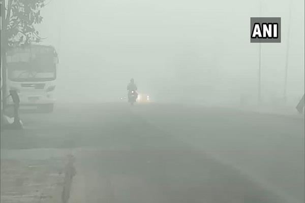 delhi north india cold fog