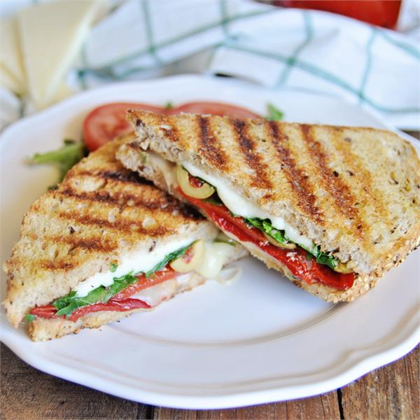 grilled sandwiches with cheese made and fed to children in the home kitchen