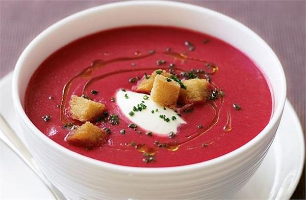 be sure to give children a winter soup made with beets and carrots