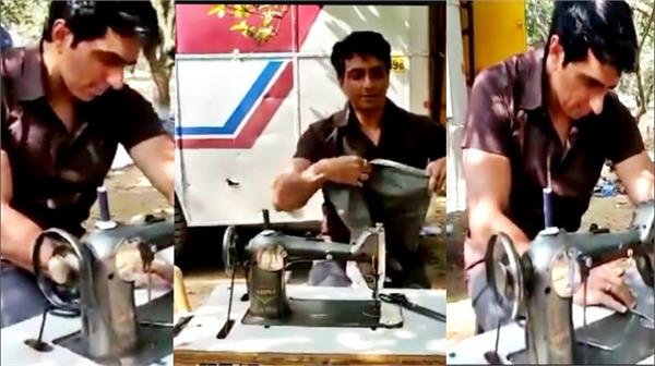 sonu sood became tailor sonu sood shared a video