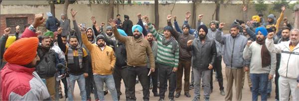 punjab roadways punbus workers agitation warning