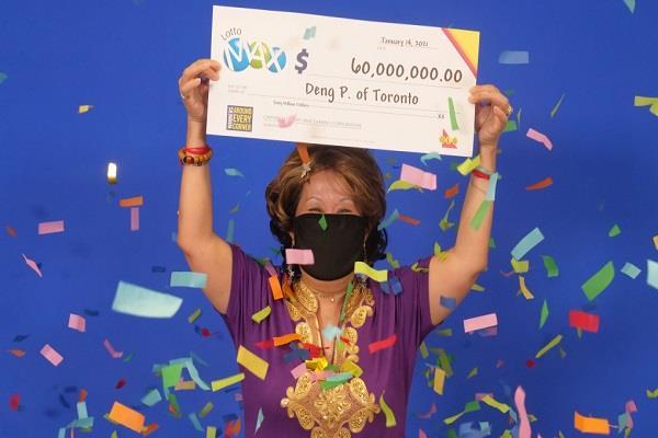 toronto woman wins  60 million lotto max jackpot