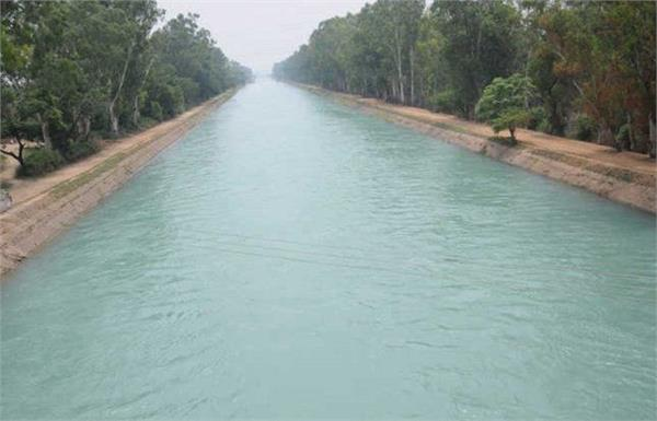 water surface project  canal  width