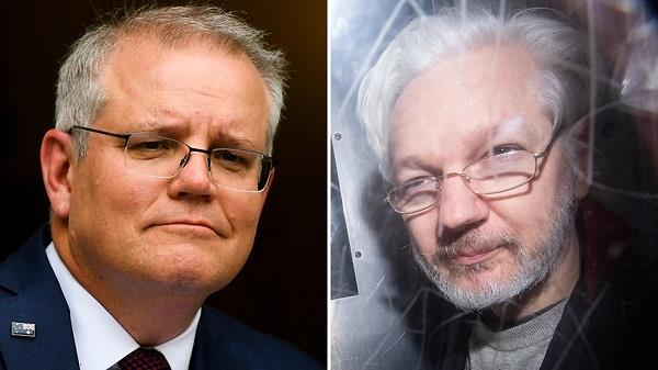 julian assange  scott morrison