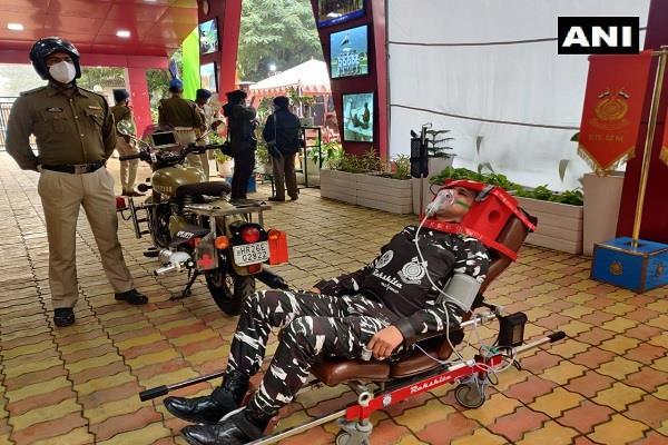 crpf drdo bike ambulance launch