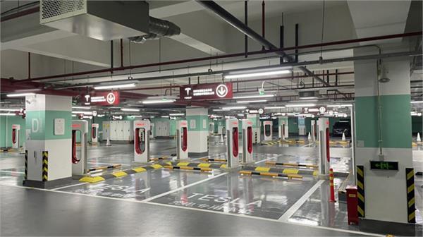 tesla opens new world largest supercharger station