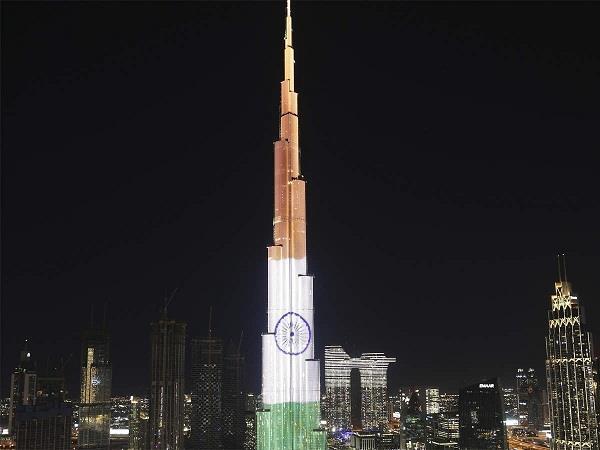 burj khalifa republic day lighted