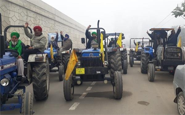 farmers  tractor rally  agricultural laws  protest