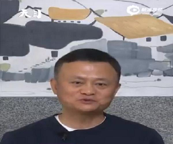 jack ma has come out in front of the world