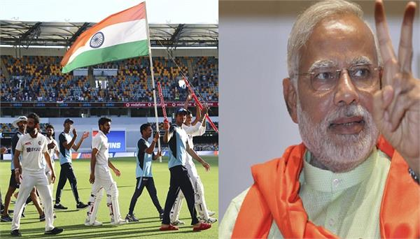 indian team  victory  pm modi  congratulations