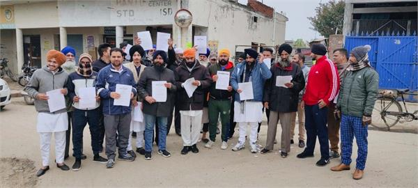 village moonak  protests  agricultural law copies