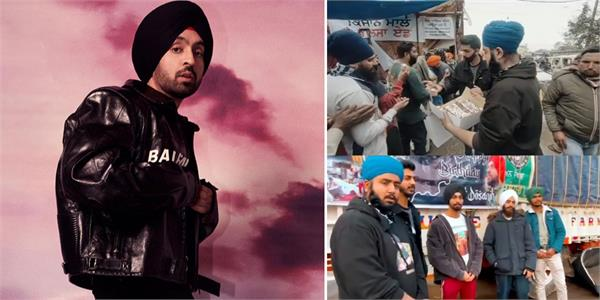 diljit dosanjh fans celebrate his birthday at singhu border