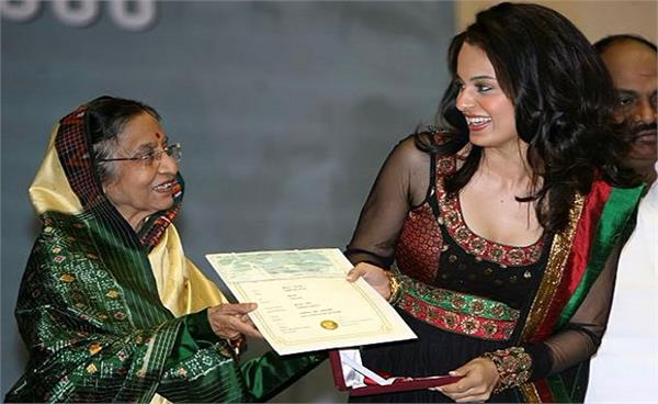 kangana ranaut receiving national award
