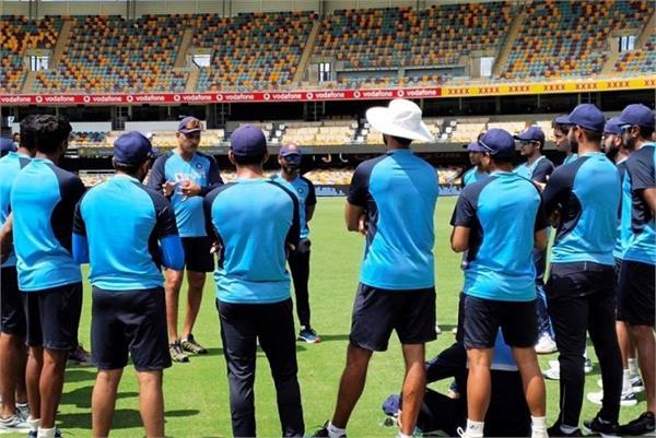 indian team  australia  brisbane test  practice