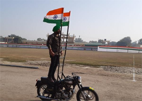 republic day mandeep singh motorcycle protest firozpur