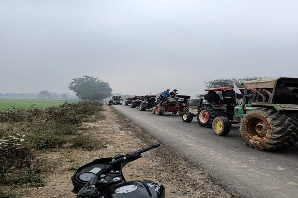 farmers tractor march modi government agricultural law protest