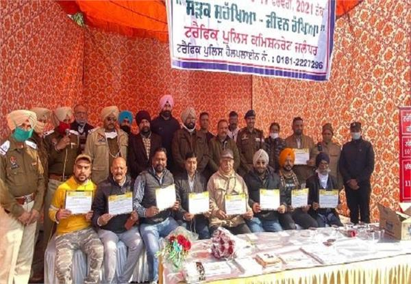 national road safety  8 persons  honored