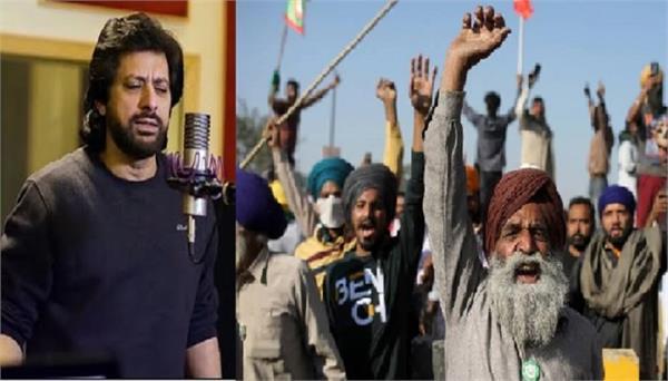 pakistani singer jawad ahmad in favoure of farmers   kisan andolan