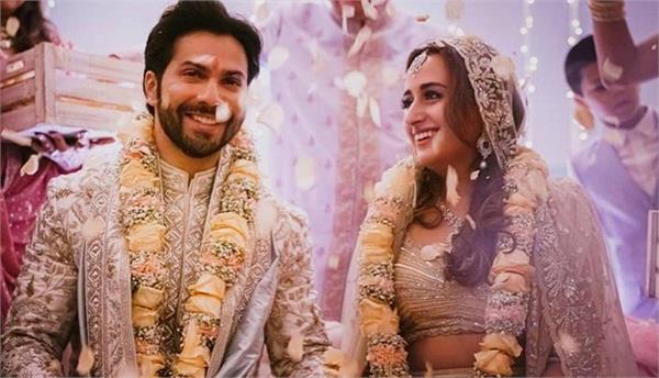 varun dhawan tweeted after the wedding  marriage to natasha