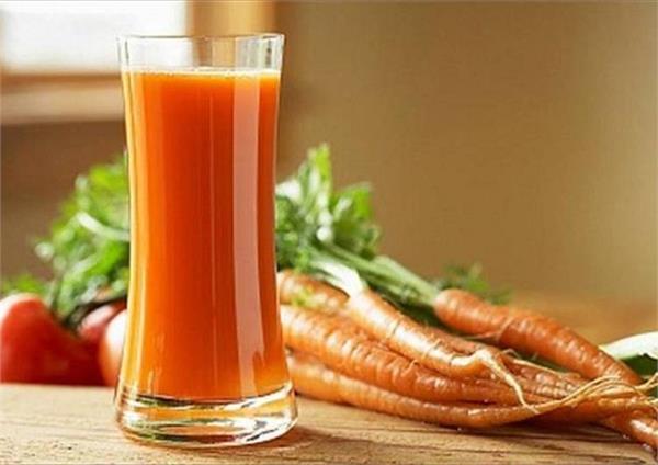 1 glass carrot juice blood pressure skin stones