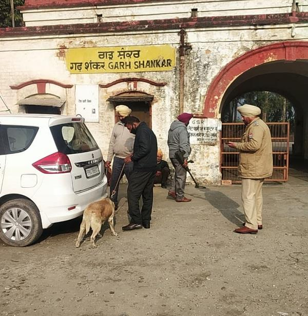police checking dog scouts in public places