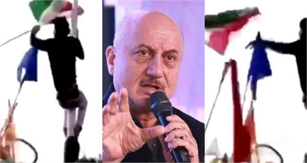anupam kher angry over the action taken by the protesters in the red fort