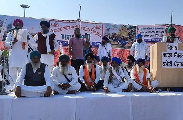 tarn taran rally farmers   raised voices against the modi government