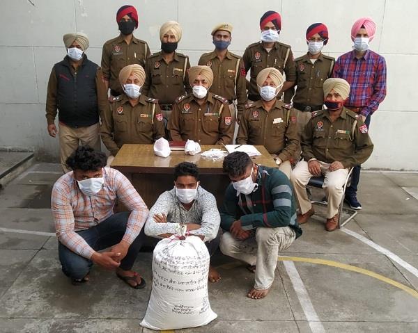 samrala police arrest 3 drug smugglers
