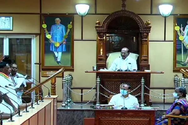 puducherry congress government floor test narayanasamy