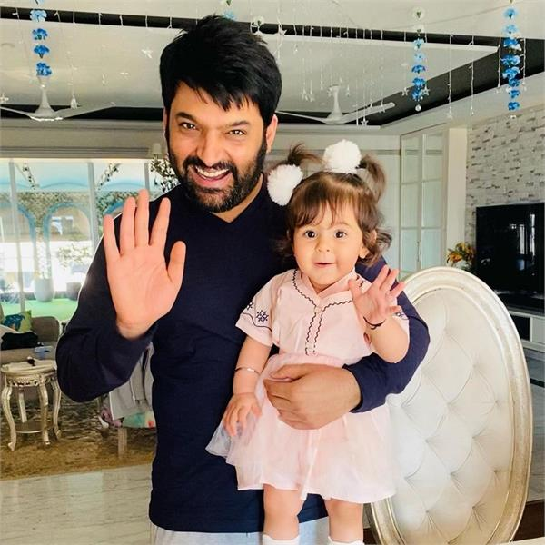 beautiful picture shared by kapil sharma with daughter anaira
