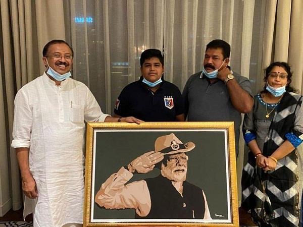 dubai 14 year old saran shashikumar narendra modi