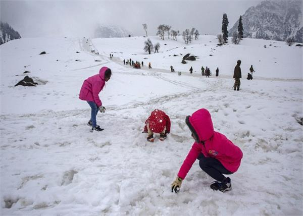 ice storm in himachal and kashmir snowfall