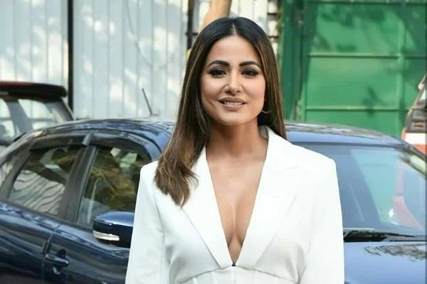 hina khan spotted in a white dress  photos