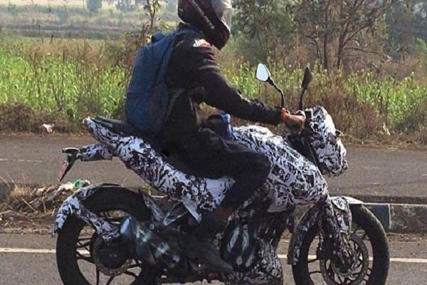 the bajaj pulsar 250 which was spotted during testing