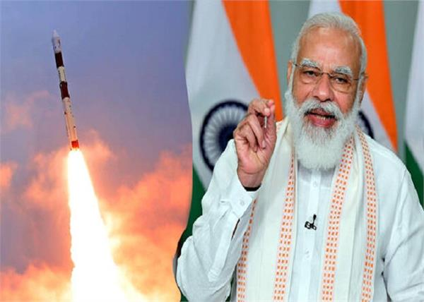 pm congratulations to isro success of launch of pslv c51