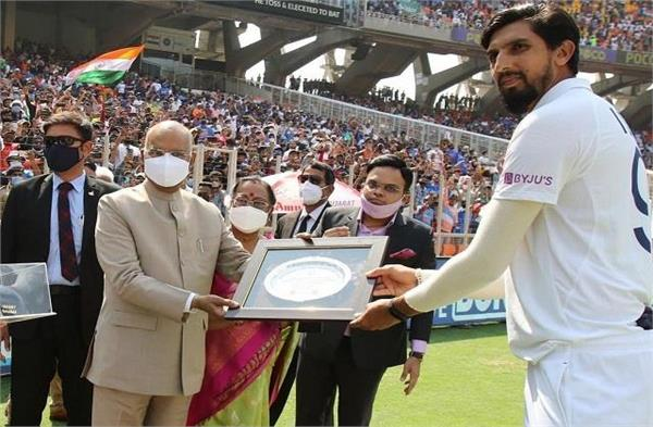 ishant was honored by the president and home minister