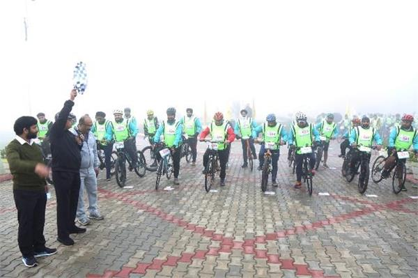 cycling marathon conducted by gna university