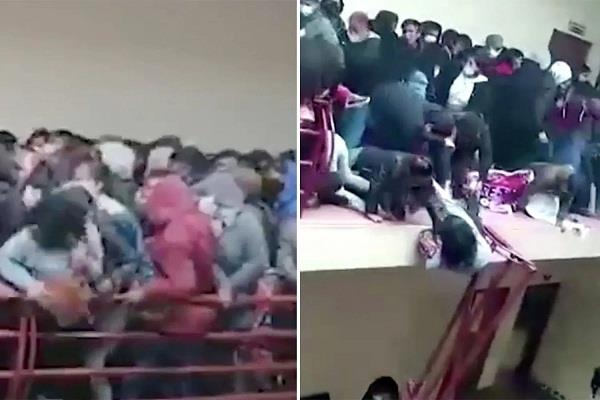 bolivian university  5 students killed  collapse railing