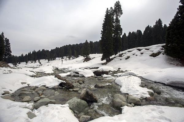 kashmir mountains snowfall plains rain