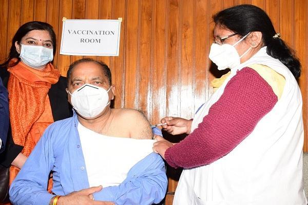 himachal pradesh chief minister jairam thakur covid 19 vaccine