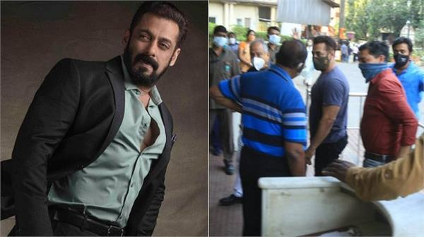 salman khan visits lilavati hospital to receive first dose of covid 19 vaccine