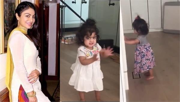 neeru bajwa shared a video of her twin daughters