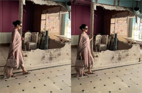 kangana ranaut arrives office  demolished by bmc after 6 months