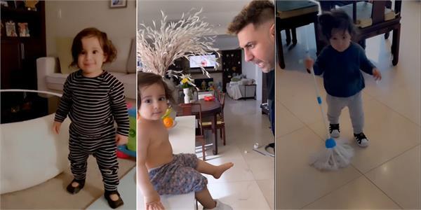 gurbaaz grewal cute video with gippy grewal