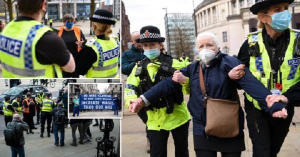 uk elderly woman arrested