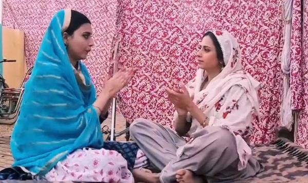 sargun and nimrat perform punjabi version of aao milo